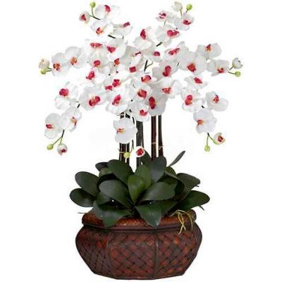 Nearly Natural Large Phalaenopsis Silk Flower Arrangement, White