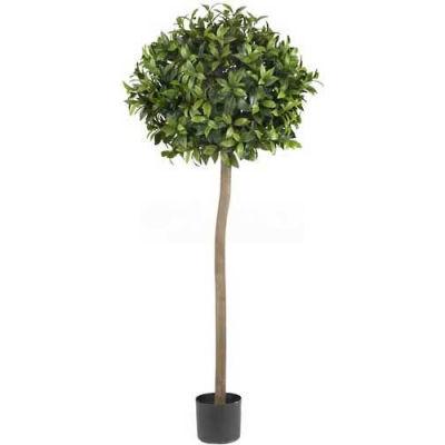 Nearly Natural 5' Sweet Bay Ball Topiary Silk Tree