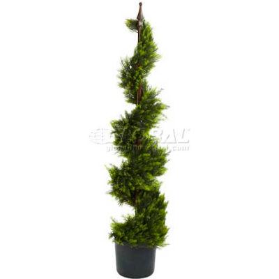 Nearly Natural 4' Cypress Spiral Silk Tree