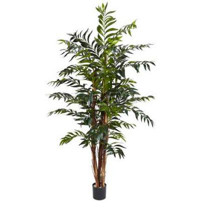 Nearly Natural 5' Bamboo Palm Silk Tree, Green
