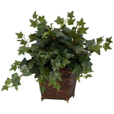 Nearly Natural Puff Ivy with Coiled Rope Planter Silk Plant