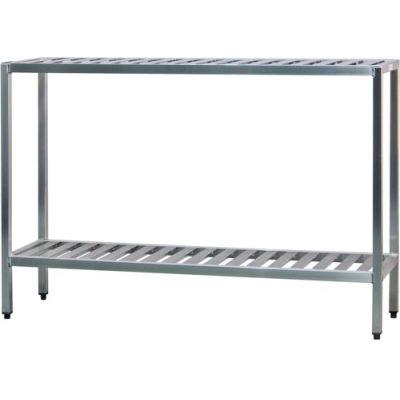 """New Age - Aluminum T-Bar 2-Shelf Rack, 20""""W x 48""""H x 36""""L"""