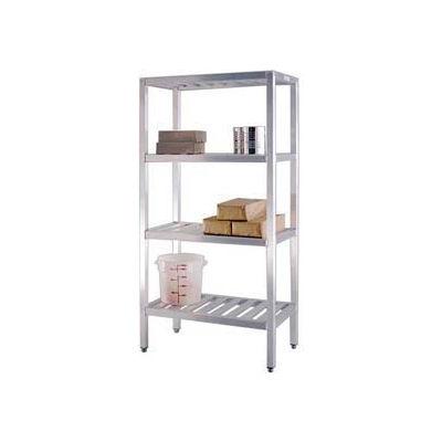 """New Age - Aluminum T-Bar 4-Shelf Rack, 20""""W x 72""""H x 72""""L"""