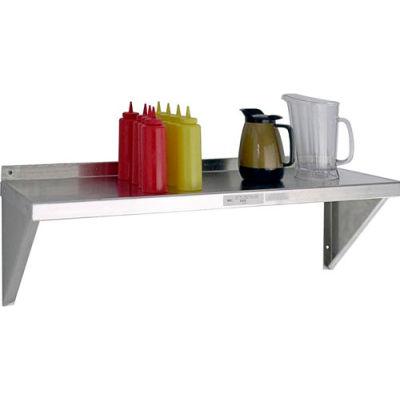 """New Age - Aluminum Solid Wall Shelf, 12""""W x 36""""L,12 ga."""