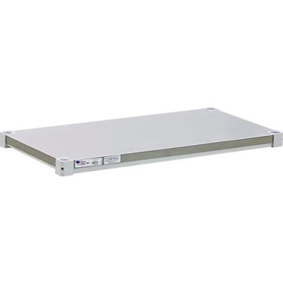 "New Age - Aluminum Adjustable Solid Brute Shelf, 24""W x 42""L"
