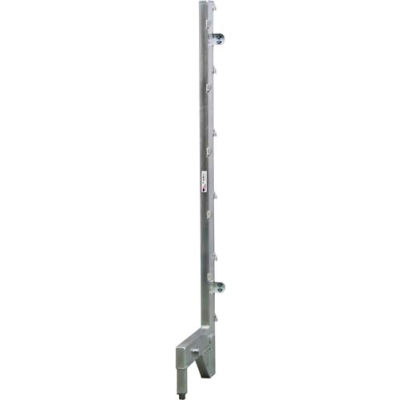 """New Age - Cantilever Rack Free Stand Left Upright for 24"""" Shelf, 27 1/2"""" L x 72.75 ' H, Aluminum"""
