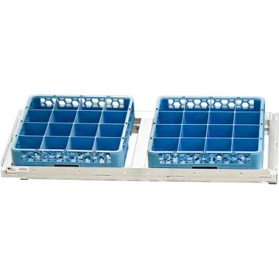 "Aluminum T-Bar Slanted Wall Shelf, 21""Wx48""L"