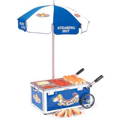 Nemco® 6550-DW3,  Countertop Hot Dog Mini Cart, Blue