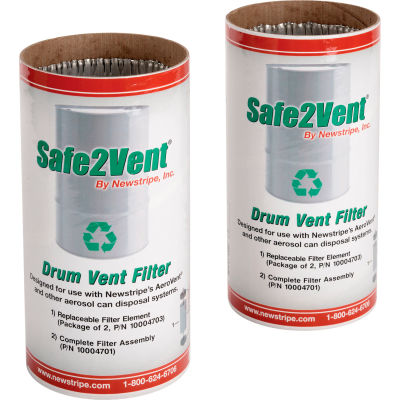 Newstripe Safe2Vent™ Replacement Carbon Filter, 2/Pack, 10004703
