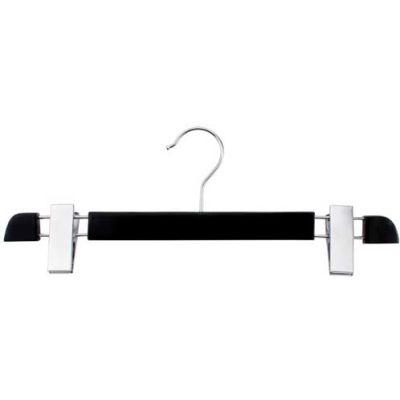 "NAHANCO 200713B Pant Hanger-Executive Series, 14""L, Wood-BK, Pkg Qty 25"