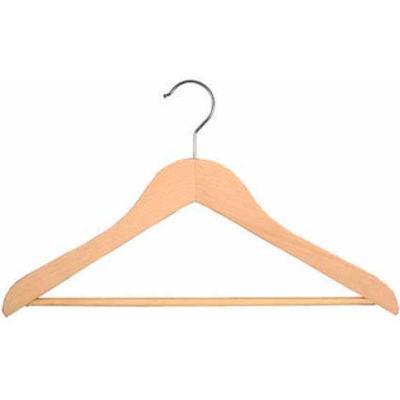 """NAHANCO 2007-15N Suit Hanger-Executive Series, 17""""L, Wood-Natural, Pkg Qty 50"""