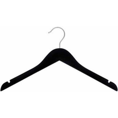 "NAHANCO 20817HU Top Hanger, 17""L x 1/2""W, Wood-BK Rubberized, Pkg Qty 25"