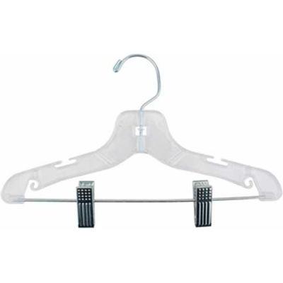 """NAHANCO 412RC Suit Hanger-Super Heavy Weight, 12""""L, Plastic-CL, Pkg Qty 100"""