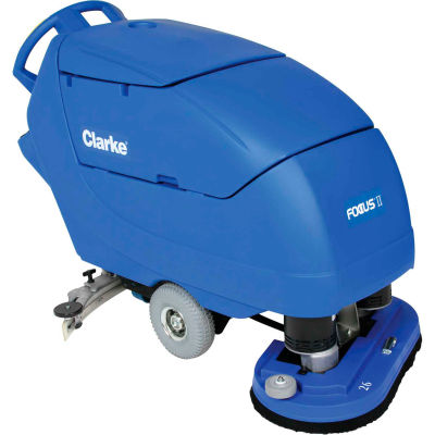 "Clarke® FOCUS® II Disc Walk-Behind Battery Floor Scrubber, 34"" Cleaning Path-05411A"