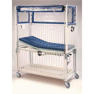 "NK Medical Child ICU Klimer Crib C2082CL, 30""W x 60""L x 78""H, Flat Deck, Chrome"