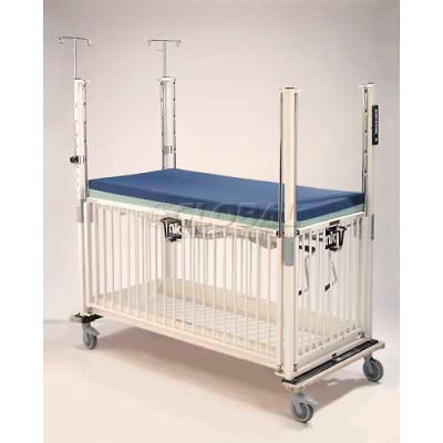 "NK Medical Child ICU Standard Crib E2081CGT, 30""W x 60""L x 61""H, Gatch/Trendelenburg Deck, Epoxy"