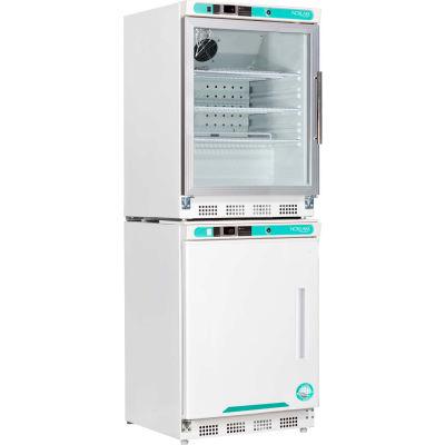Nor-Lake PRF092WWGLH/0 White Diamond Glass Door Refrigerator & Freezer Combo, Left Hinged Door