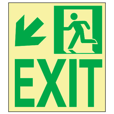 Glow NYC - Wall Mount Exit Down Left