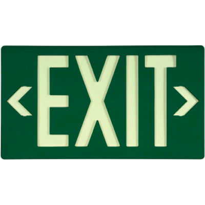 Glo-Brite® ECO Exit Sign- Green Single Face, 7040100B