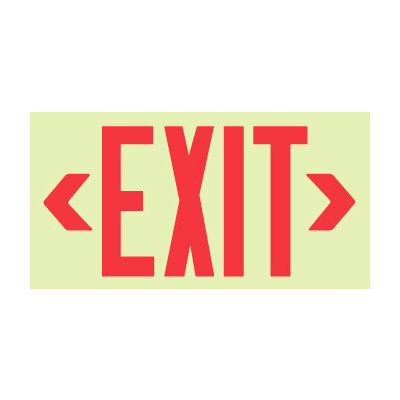 Glo-Brite Exit - Red Frameless