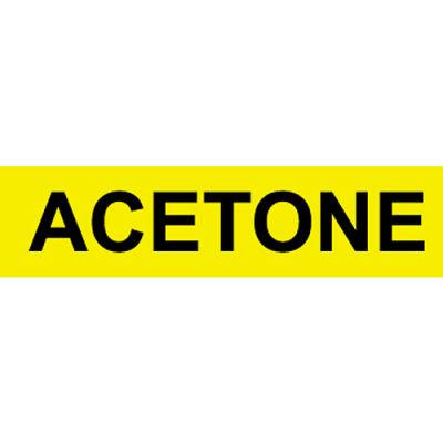 Pressure-Sensitive Pipe Marker - Acetone, Pack Of 25