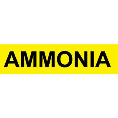 Pressure-Sensitive Pipe Marker - Ammonia, Pack Of 25