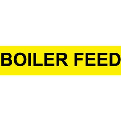 Pressure-Sensitive Pipe Marker - Boiler Feed, Pack Of 25