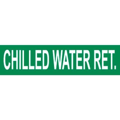 Pressure-Sensitive Pipe Marker - Chilled Water Return, Pack Of 25