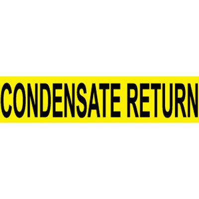 Pressure-Sensitive Pipe Marker - Condensate Return, Pack Of 25