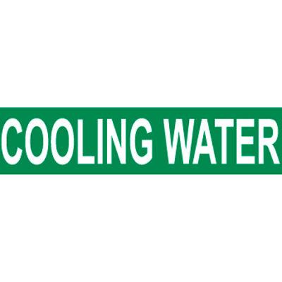 Pressure-Sensitive Pipe Marker - Cooling Water, Pack Of 25