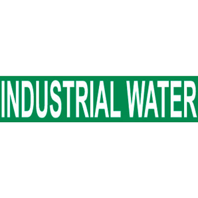 Pressure-Sensitive Pipe Marker - Industrial Water, Pack Of 25