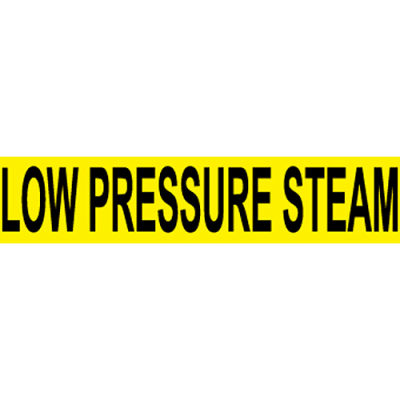 Pressure-Sensitive Pipe Marker - Low Pressure Steam, Pack Of 25