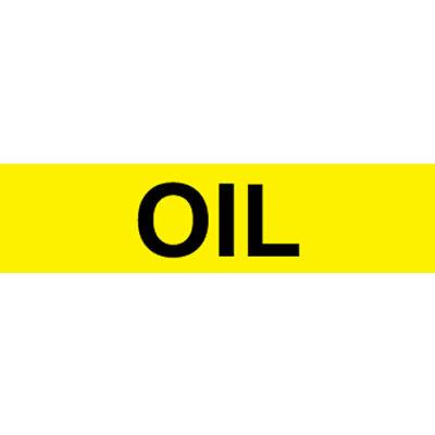 Pressure-Sensitive Pipe Marker - Oil, Pack Of 25