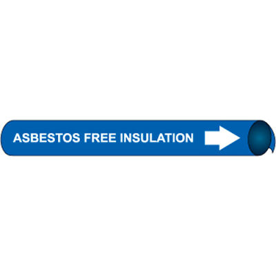Precoiled and Strap-on Pipe Marker - Asbestos Free Insulation