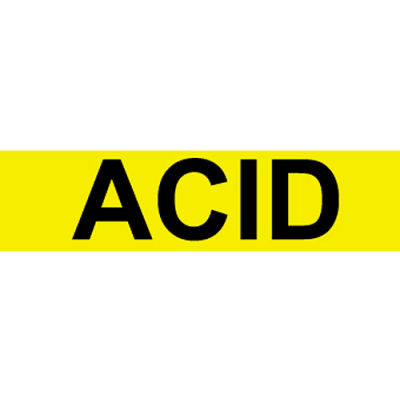 Pressure-Sensitive Pipe Marker - Acid, Pack Of 25