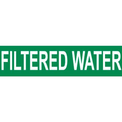 Pressure-Sensitive Pipe Marker - Filtered Water, Pack Of 25