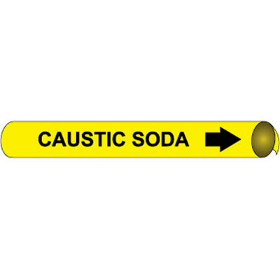 Precoiled and Strap-on Pipe Marker - Caustic Soda