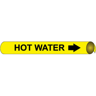 Precoiled and Strap-on Pipe Marker - Hot Water