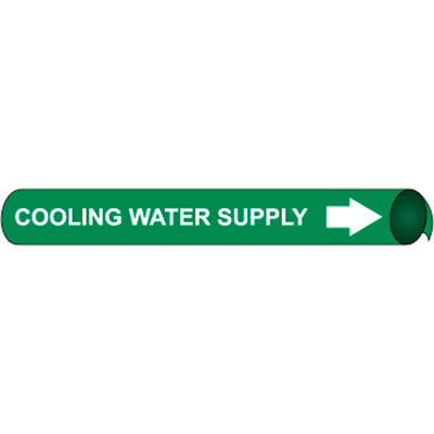 Precoiled and Strap-on Pipe Marker - Cooling Water Supply