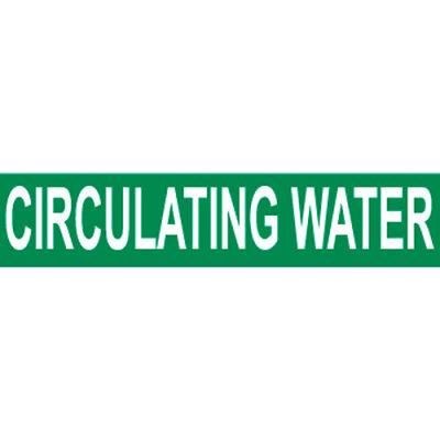 Pressure-Sensitive Pipe Marker - Circulating Water, Pack Of 25