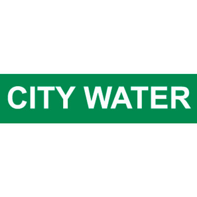 Pressure-Sensitive Pipe Marker - City Water, Pack Of 25