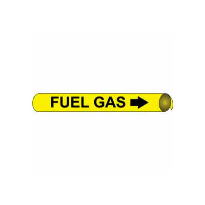 Precoiled and Strap-on Pipe Marker - Fuel Gas