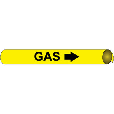 Precoiled and Strap-on Pipe Marker - Gas