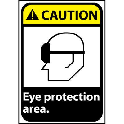 Caution Sign 14x10 Aluminum - Eye Protection Area