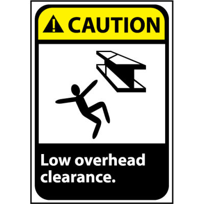 Caution Sign 14x10 Aluminum - Low Overhead Clearance