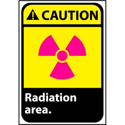 Caution Sign 14x10 Vinyl - Radiation Area