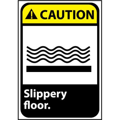 Caution Sign 14x10 Aluminum - Slippery Floor