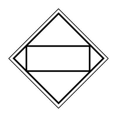 DOT Placard - Blank Alternate