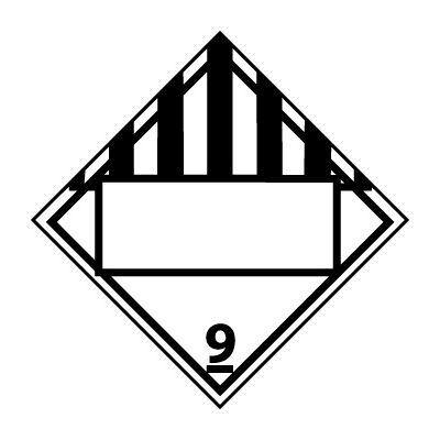 DOT Placard - Class 9 Blank