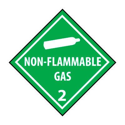 DOT Placard - Non Flammable Gas 2